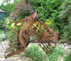 Metal sculpture by Ashley Baldwin-Smith